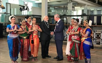 Dance performance greets Prime Minister of India and HRH The Prince of Wales