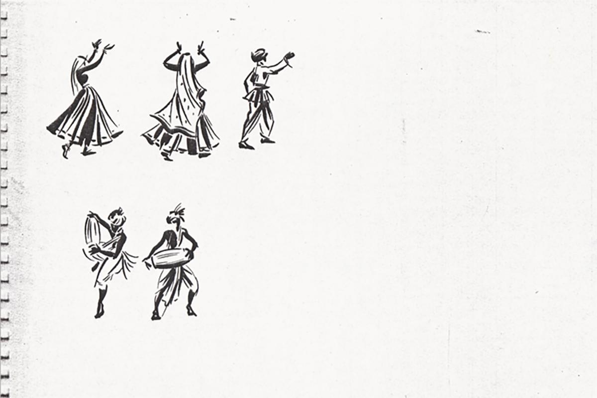 Line drawings of figures