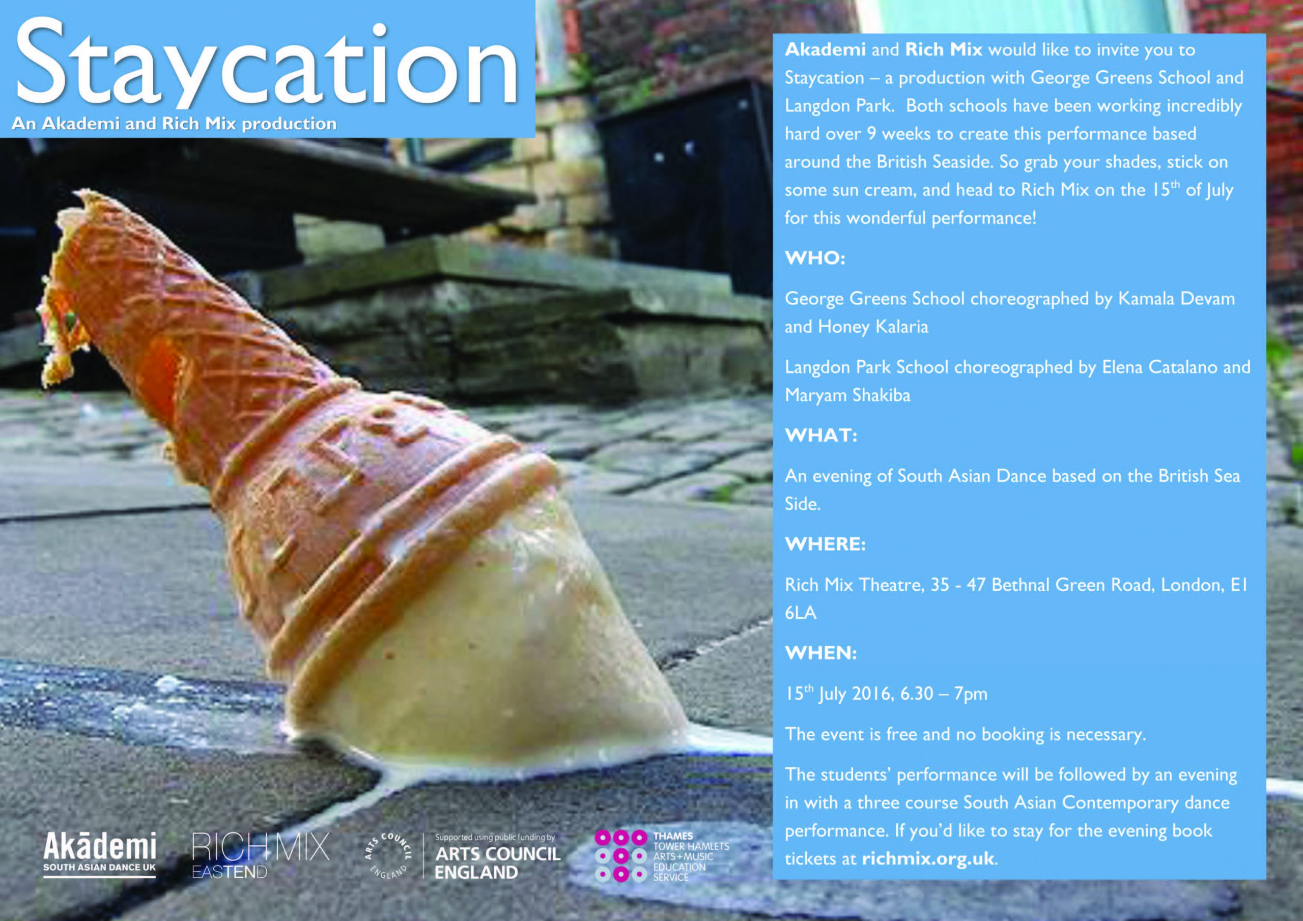 Dance in Mix Staycation flyer