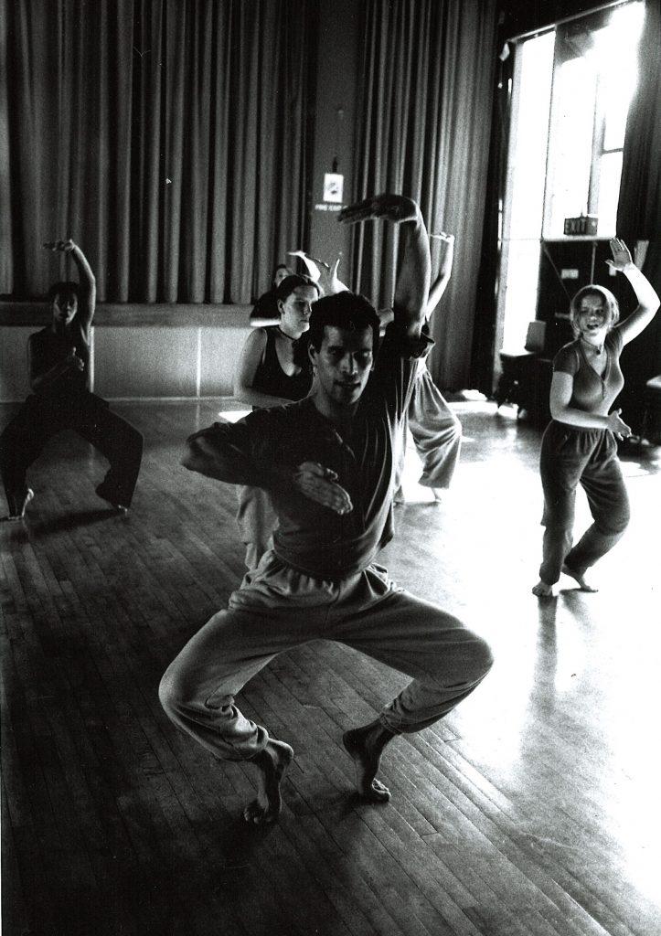 Dancers in a dance workshop