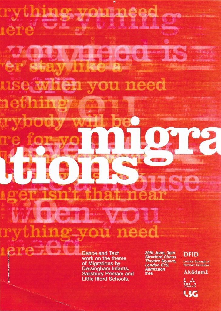 Migrations graphic poster
