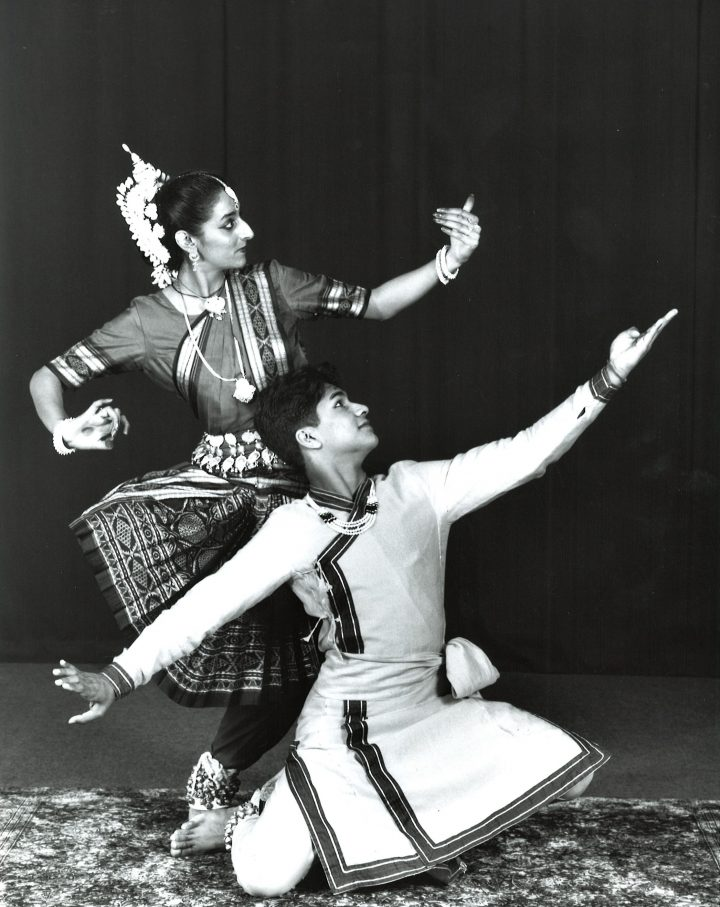 South Asian dancers on stage
